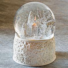 Musical Snowfall Porcelain Glitterdome®
