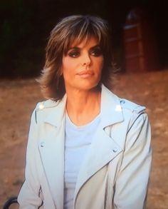 Lisa Rinna's White Leather Jacket Talking to Kim | IRO | http://www.bigblondehair.com/real-housewives/rhobh/lisa-rinnas-white-leather-jacket-talking-to-kim/