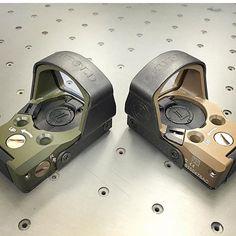 Delta Point Pro reflex sites. OD or FDE?  @dcliff714 - Cerakote options for your optics! More than a few options customshop@leupold.com