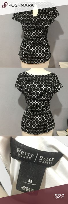 Black and white Polka dot Blouse Classic is black and white polka dot shirt from White House Black Market to add to your wardrobe. Fully lined, comfortably and in great condition. White House Black Market Tops Blouses