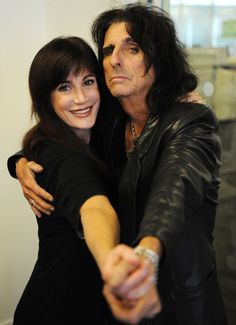 ~Alice Cooper & Sheryl Goddard ~  They have been married 37 years! <3 <3