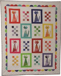 Looking for your next project? You're going to love Scrappy Kitten Baby Quilt by designer CarolynHughey. - via @Craftsy xxx