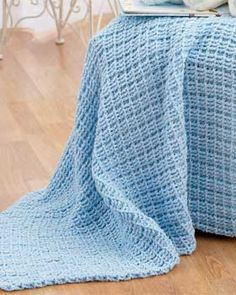 Good baby blanket, but could also be expanded into a full-size blanket