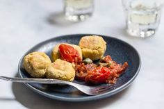 Yellow split pea fritters with capers dip - Eat Yourself Greek Pea Fritters, Tomato Vine, Grilled Octopus, How To Dry Oregano, Mediterranean Recipes, Cherry Tomatoes, Food Print, A Food, Food Processor Recipes