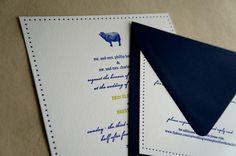Pastoral :: Letterpress Invitation from Drippy Ink
