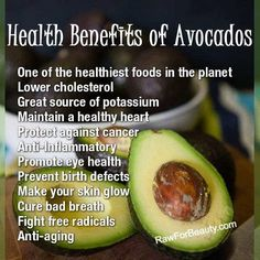 Health benefits of avacados
