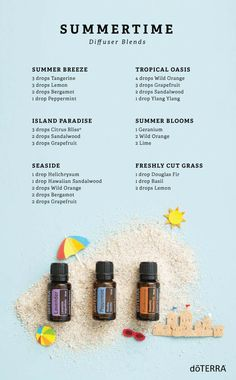 Summertime diffuser essential oil blends