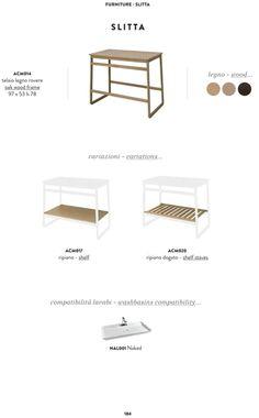 The.Artceram SLITTA. Match Trapezio furniture with your preferite washbasin!