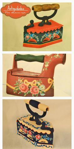 Atelier Gina Pafiadache: Antiguidades: Ferros de passar roupa