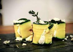 Zucchini Feta Röllchen - low Carb fingerfood