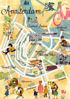 Amsterdam map print by Claudia Schoen