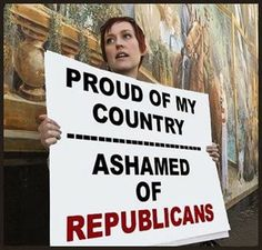 Proud of my country. Ashamed of Republicans…ashamed of most government people, really. Over of them don't do shit to make this country and its people better. Political Images, Political Views, Keep It To Yourself, Proud Of Me, Republican Party, Social Issues, In This World, Decir No, Wisdom