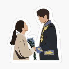 Preppy Stickers, Pop Stickers, Korean Art, Korean Drama, Kdrama, Korean Stickers, Cute Couple Art, Cartoon Wallpaper Iphone, Beautiful Nature Wallpaper