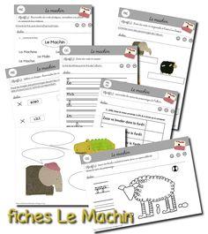 La maternelle de Laurène: Le Machin. (Fiches) Maternelle Grande Section, Album Jeunesse, Worksheets, Classroom, Map, Activities, School, Albums, Continents