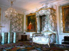 Château de Versailles, la chambre de Madame Victoire, daughter of Louis XV, au rez-de-chaussée (ground floor) of the  château.