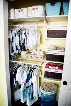 Closet organization for babies