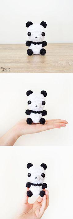 Crochet Pattern - Baby Panda - Amigurumi Double Crochet, Single Crochet, Crochet Yarn, Crochet Hooks, Baby Patterns, Sport Weight Yarn, Amigurumi Toys, Yarn Needle, Sculpting