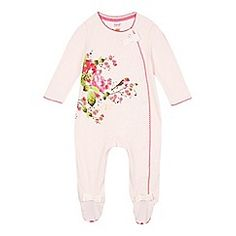 089050298 Baker by Ted Baker - Babies pink flower and bird print sleepsuit  debenhams.com Ted