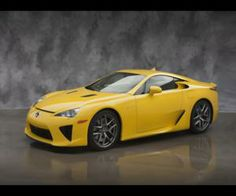 Lexus LFA Yellow from www.yours-cars.eu/LEXUS/Lexus7.htm