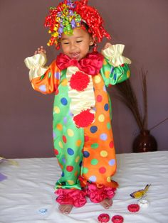 Baby/Toddler Clown Costume by DIPdesigns on Etsy, $59.00