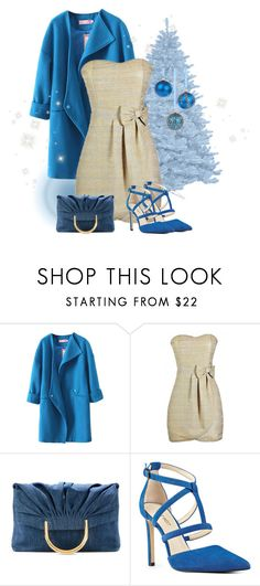 """""""Blue & Gold"""" by dogzprinted ❤ liked on Polyvore featuring STELLA McCARTNEY, Nine West, Christmas and BlueandGold"""