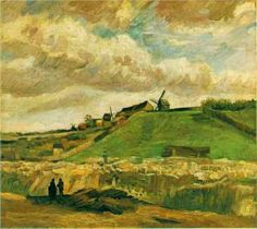 The Hill of Montmartre with Quarry - Vincent van Gogh 1886, Paris oil on canvas Van Gogh Museum, Amsterdam
