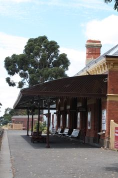 Maldon Railway Station Maldon Victoria, Gazebo, Pergola, Historic Houses, Contemporary Photographers, Victoria Australia, Old Town, Wwii, New Zealand
