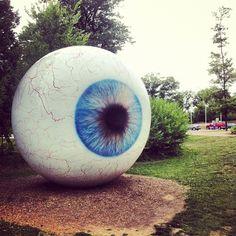 #sculpture giant #eye ball. - @noritoy- #webstagram