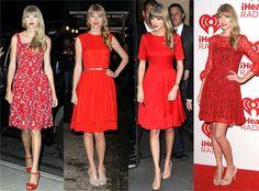 Zapatos para vestido rojo largo de fiesta