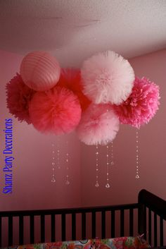 Tulle pom pom, for weddings, party decorations and centerpieces. $45.00, via Etsy.
