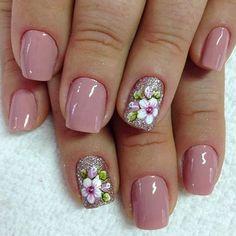 Spring Nails - 46 Best Spring Nails for 2018 - Hashtag Nail Art Ombre Nail Designs, Pedicure Designs, Nail Designs Spring, Nail Art Designs, Pedicure Ideas, Cute Nails, Pretty Nails, Hair And Nails, My Nails
