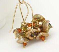 Gold keishi pearl earrings Gold pearl by CreativityJewellery, $50.00