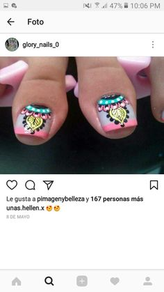We gathered the best nail art designs. Make sure you check them all out. Pretty Toe Nails, Love Nails, Fun Nails, Gel Nail Art Designs, Pedicure Designs, Cute Pedicures, Pedicure Nails, Toe Nail Art, Acrylic Nails