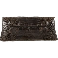Pre-owned Nancy Gonzalez Crocodile Clutch ($625) ❤ liked on Polyvore