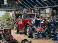 Classic Cars British, Old Classic Cars, Vintage Cars, Antique Cars, Car Themes, Truck Art, Puzzle Art, Car Posters, Car Advertising