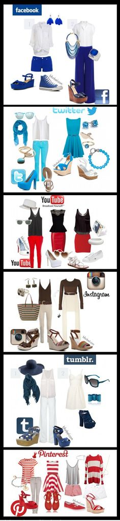 Outfits Social Media #socialmedia #fashion