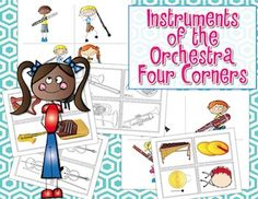 Four Corners - Assessment Game {Instruments of the Orchestra} #kodaly #elmusiced #musedchat #orff  A really fun way to practice identifying the instruments!