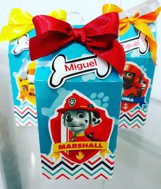 Birthday Giveaways For Kids, Paw Patrol, Frosted Flakes, Gift Wrapping, Box, Gifts, Cake, Souvenir Ideas, Diy Creative Ideas