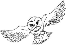 Owl Outline Coloring Pages