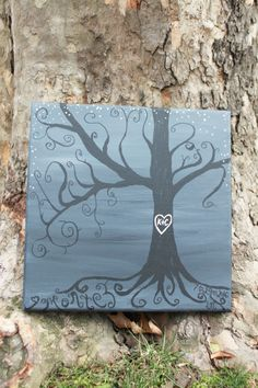 Hausman / Montez wedding tree, custom made for their wedding day Tree Wedding, Wedding Day, Bee, Gallery, Artwork, Etsy, Home Decor, Pi Day Wedding, Work Of Art