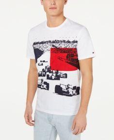 a74f9fe5 Tommy Hilfiger Men's Monte Carlo Graphic T-Shirt - White XXL Tommy Shop,  Monte