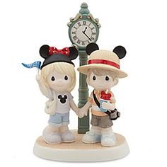 Main St. U.S.A. ''My Main Attraction'' Figure by Precious Moments | Disney Store A pair of toddler tourists share Precious Moments on Main St. U.S.A. for this hand-painted porcelain figurine that will remain a timeless reminder of shared memories at Disney's magical kingdoms.