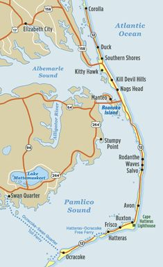 Outer Banks Map for Joyce Lavene's books