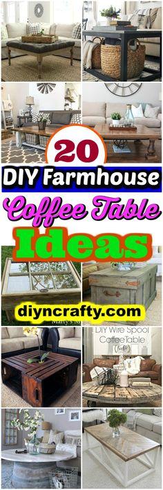 DIY Farmhouse Coffee Table Ideas