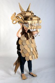 Strode College  -  Somerset UK Cardboard Catwalk 2014 Chinese Dragon