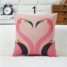Mid Century Animal Art Pillow Covers