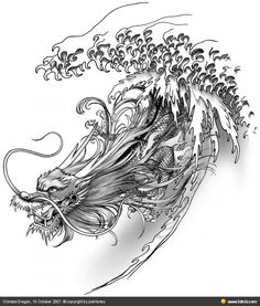 Cool water dragon