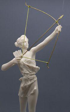 Steady Greece Sculpture...antique Print...1894 Discus Thrower Zeus