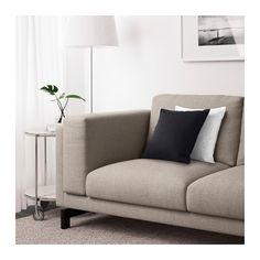 NOCKEBY Two-seat sofa - Tenö light grey, wood - IKEA