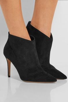 Gianvito Rossi - Suede Ankle Boots - Black - IT41.5